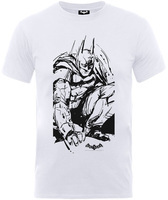 Batman Arkham Sketch Boys White T-Shirt (5 - 6 Years) - Cover
