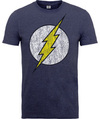 Flash Distressed Logo Mens Navy T-Shirt (Large) Cover