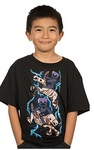 Minecraft Skeleton Riders Youth T-Shirt - Black (Large)