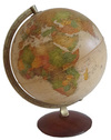 Antique 30cm Illuminated Globe