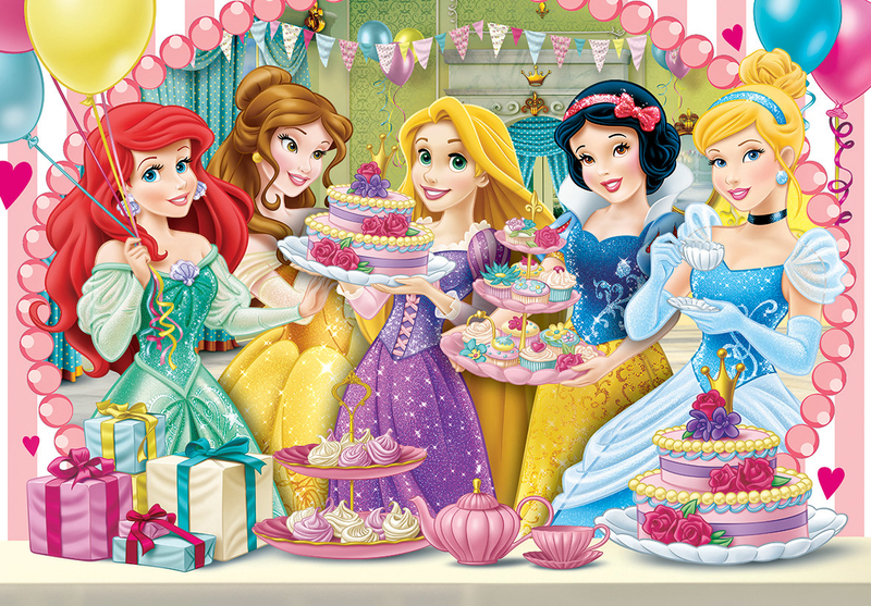 princess tea party clementoni disney princess royal tea puzzle 60 31203