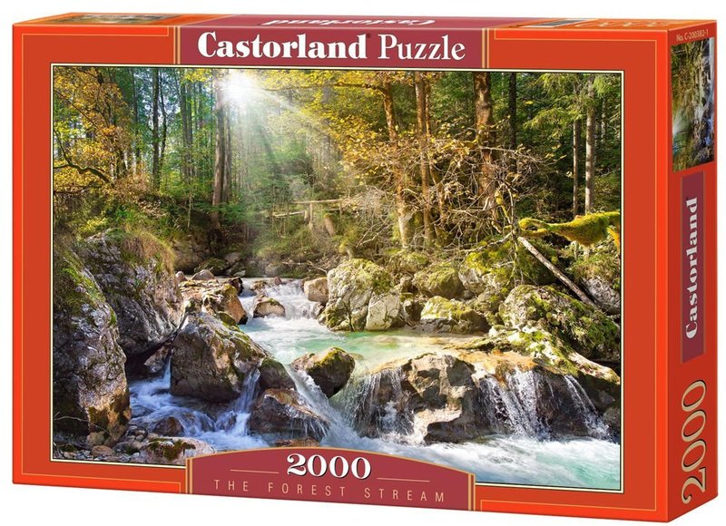 castorland the forest stream puzzle 2000 pieces. Black Bedroom Furniture Sets. Home Design Ideas