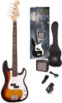 SX Electric Bass Guitar Pack and Amp (3TS)