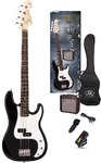 SX Electric Bass Guitar Pack and Amp (Black)