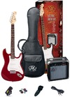 SX Electric Guitar Pack and Amp (Red)