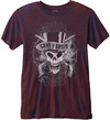 Guns N Roses – Faded Skull Mens Navy Red T-Shirt (X-Small)
