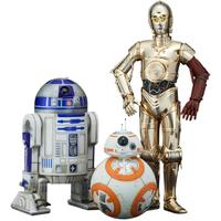 Star Wars Episode 7: The Force Awakens Artfx+ Series C-3PO & R2-D2 With BB-8 Set of 3 Action Figures 18cm Scale