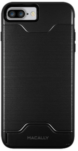 Macally Dual Layer Protective Case with Kickstand for iPhone 7 Plus  - Black - Cover