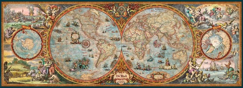 Heye hemisphere panorama map puzzle 6000 pieces hobbies toys additional cover gumiabroncs Image collections