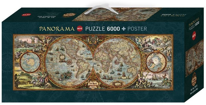 Heye hemisphere panorama map puzzle 6000 pieces hobbies toys heye hemisphere panorama map puzzle 6000 pieces gumiabroncs Image collections