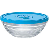 Duralex - Lys Carre Stackable Round Bowl with Lid - 12 cm
