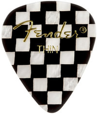 Fender 351 Shape Checker Pick (Thin) - Cover