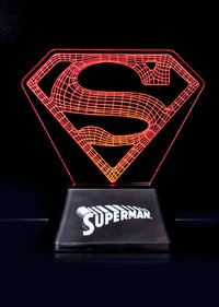 Superman Official Colour Changing LED Acrylic Mood Light