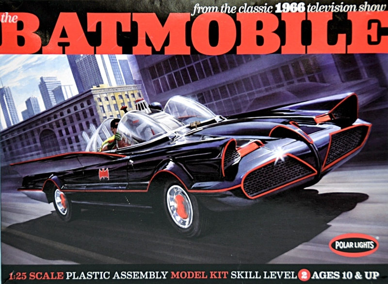 Polar Lights - Batmobile Deluxe 1966 with Figures & P Etched Parts 1/25  (Plastic Model Kit)