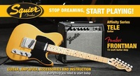 Squier Affinity Telecaster Electric Guitar Pack with Frontman 15G Amplifier (Starter Pack)