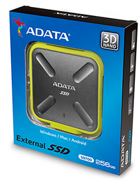 ADATA SD700 256GB Micro-USB B 3.0 (3.1 Gen 1) Durable External Solid State Drive - Black/Yellow