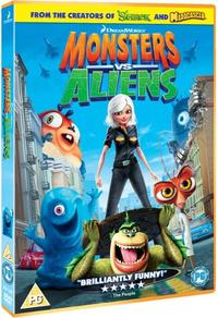 Monsters Vs Aliens (DVD) - Cover