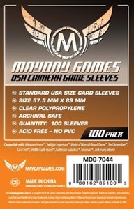 Mayday Games - USA Chimera Orange Game Sleeves (100) - Cover