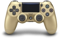 Sony - New DUALSHOCK 4 Wireless Controller V2 - Gold - Cover