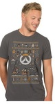 Overwatch Holiday Sweater For the Heroes Premium T-Shirt - Charcoal (Large)