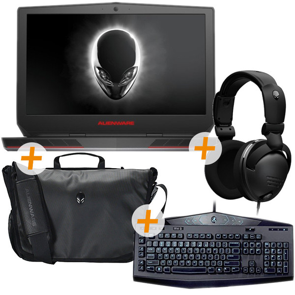 Alienware 17 R3 i7-6700HQ 12GB RAM 1TB HDD GeForce GTX 980M 8GB 17 3 Inch  FHD Gaming Notebook Bundle (inc  Headset, Keyboard and Notebook Bag)
