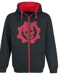 Gears of War 4 - Black & Red Omen Cut & Sew Hoodie (Small) - Cover