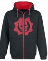 Gears of War 4 - Black & Red Omen Cut & Sew Hoodie (Small)