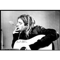 Kurt Cobain - Smoking (Framed Poster)