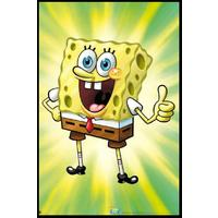 Spongebob Squarepants - Happy (Framed Poster)