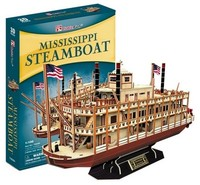 Cubicfun - Mississippi Steamboat 3D Puzzle (142 Pieces)