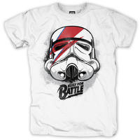 Star Wars Built For Battle Mens T-Shirt - White (Small)