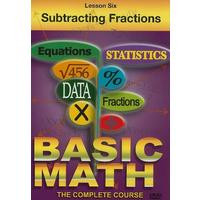 Basic Maths - Subtracting Fractions (DVD)