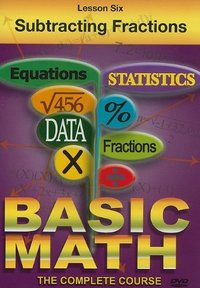 Basic Maths - Subtracting Fractions (DVD) - Cover