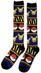 Knee Socks Pokemon - Pikachu, Pokeball & Lightning Knit