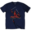 Deadpool Logo Jump Men's Navy T-Shirt (Medium)