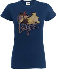 Batgirl Ladies Navy T-Shirt (X-Large) - Cover