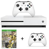 Microsoft - Xbox One S 500GB Console - White + FIFA 17 + Wireless Controller