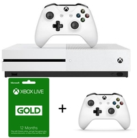 Microsoft - Xbox One S 500GB Console - White + 12 Months Live + Wireless Controller