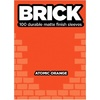 Legion Brick Sleeves - Atomic Orange (100 Sleeves)