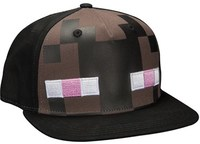 Minecraft Enderman Mob Hat - One Size - Black - Cover