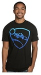 Rocket League Blue Pro Glow Premium T-Shirt - Black (X-Large)