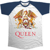 Queen Classic Crest Raglan Men's T-Shirt - Navy (Small)