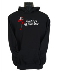 Daddy's Little Monster Women's Hoodie - Black (XX-Large) - Cover