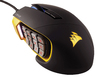 Corsair - Scimitar PRO RGB Optical MOBA/MMO Gaming Mouse - Black/Yellow