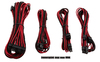 Corsair - Premium individually sleeved flexible paracorded modular cable starter kit - Red/Black