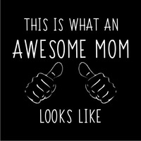 Awesome Mom Women's T-Shirt - Black (XX-Large) - Cover