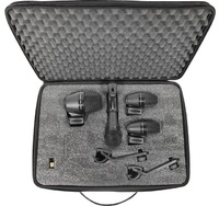 Shure PGADRUMKIT4 4 Piece Drum Microphone Set (Including Case and Cables)