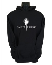 Talk to the Hand Women's Hoodie - Black (Large) - Cover