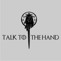Talk to the Hand Women's Hoodie - Grey (Small) - Cover