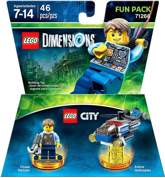 lego dimensions lego city fun pack for ps3 ps4 xbox 360. Black Bedroom Furniture Sets. Home Design Ideas